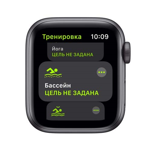 Apple Watch SE 44mm Space Gray Aluminium Case with Sport Band черный 2