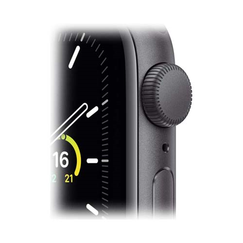 Apple Watch SE 44mm Space Gray Aluminium Case with Sport Band черный 4