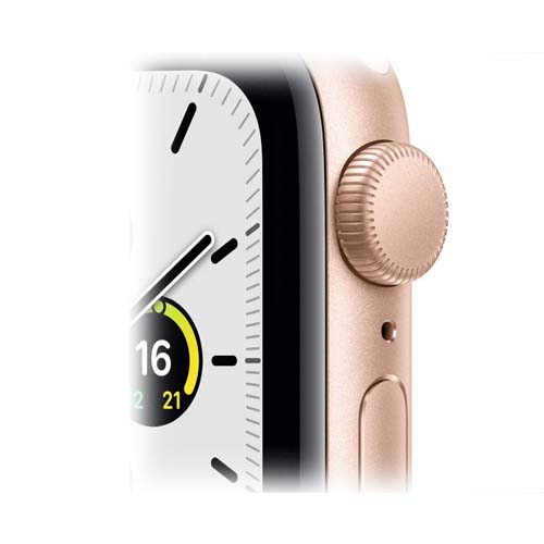 Apple Watch SE 44mm Gold Aluminium Case with Sport Band розовый 4