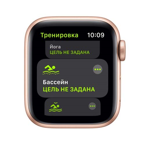 Apple Watch SE 44mm Gold Aluminium Case with Sport Band розовый 3
