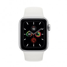 Apple Watch Series 5 40mm MWV62 Silver Aluminium Case with White Sport Band