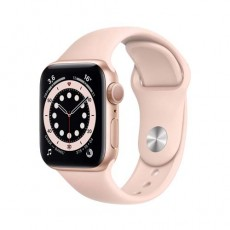 Apple Watch Series 6 44mm Gold Aluminium Case with Sport Band розовый