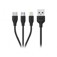 Кабель USB Remax Suda 3в1 RC-109th Lightning+Micro+Type-C черный