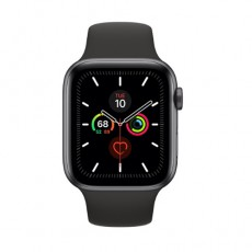 Apple Watch Series 5 44mm MWVF2 Space Gray Aluminium Case with Black Sport Band, ЕАС