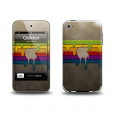 Наклейка QSTICKER Apple iPhone 4/4S, виниловая, RainbowApple