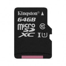 Карта памяти MicroSD 64GB Class 10 U1 Kingston SDCS/64GBSP