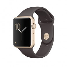 Часы Apple Watch Series 2 42mm Gold Aluminum Case with Cocoa Sport Band