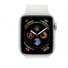 Apple Watch Series 5 44mm MWVD2 Silver Aluminium Case with White Sport Band, ЕАС