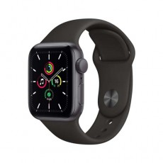 Apple Watch SE 44mm Space Gray Aluminium Case with Sport Band черный