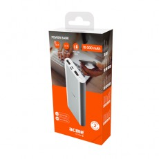 Power bank ACME PB15S 10000 mAh, Silver