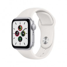 Apple Watch SE 44mm Silver Aluminium Case with Sport Band белый