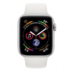 Apple Watch Series 4 44mm Silver Aluminum Case with White Sport Band б/у