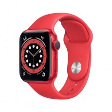 Apple Watch Series 6 44mm Red Aluminium Case with Sport Band красный