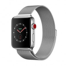 Apple Watch Series 3 42mm Stainless Steel Case with Milanese Loop