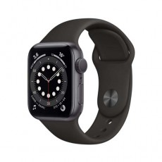 Apple Watch Series 6 44mm Space Gray Aluminium Case with Sport Band черный