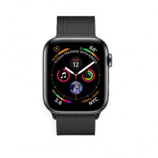 Apple Watch Series 4 44mm Black Steel Case with Black Milanese Loop